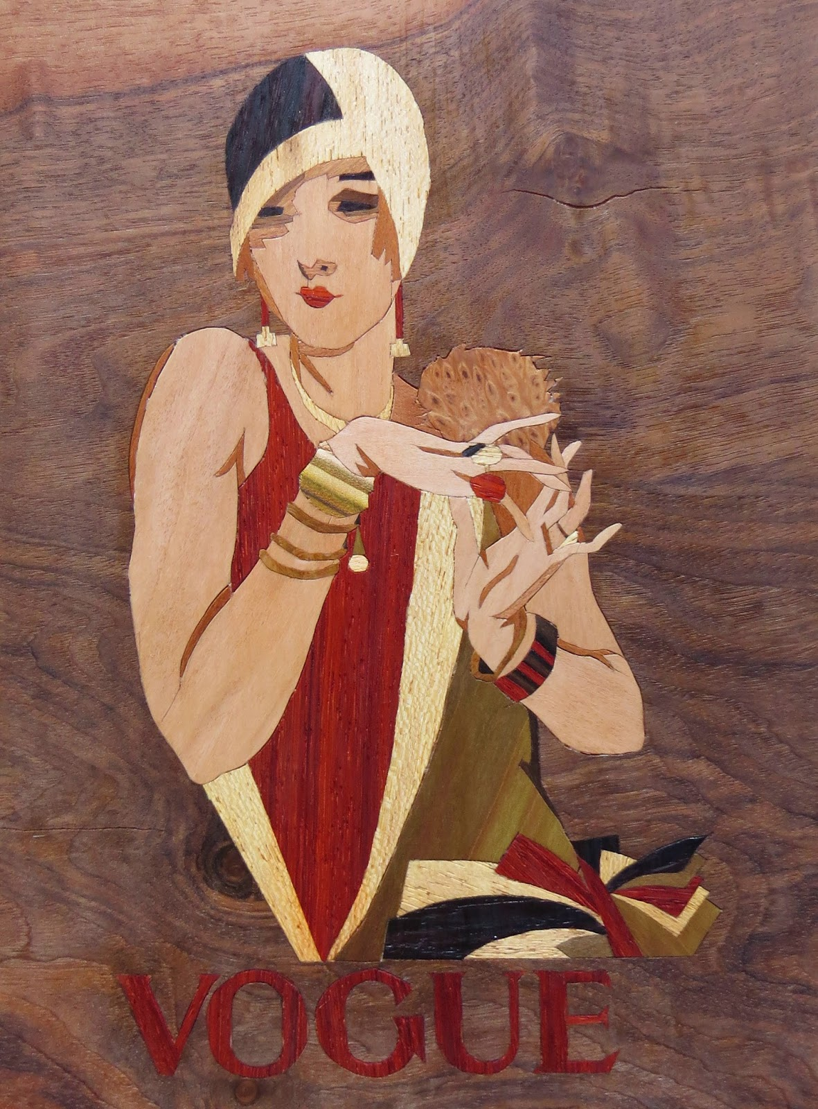 Vogue Magazine Cover 1920s Marqueterie