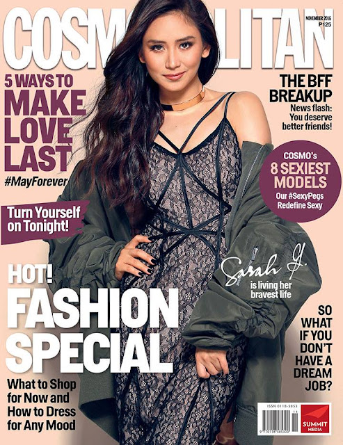 Sarah Geronimo Cosmopolitan November 2016 Cover