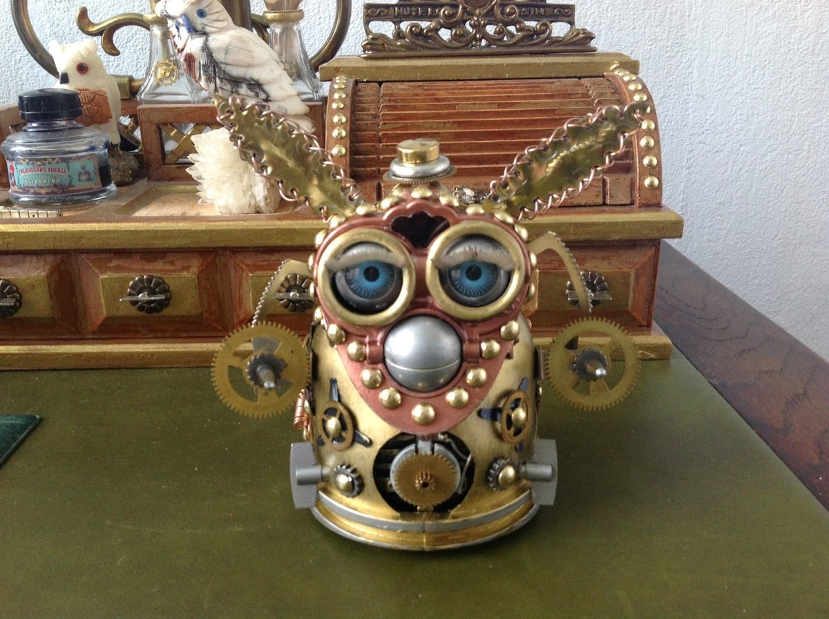 11-Furby-Van Halen Co-Steampunk Sculptures Wonderland-www-designstack-co