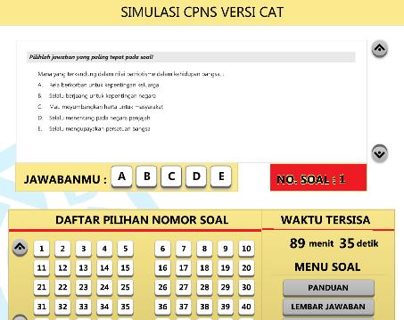 30 Contoh Soal Cat Cpns 2018 Kemenkumham Kumpulan Contoh Soal