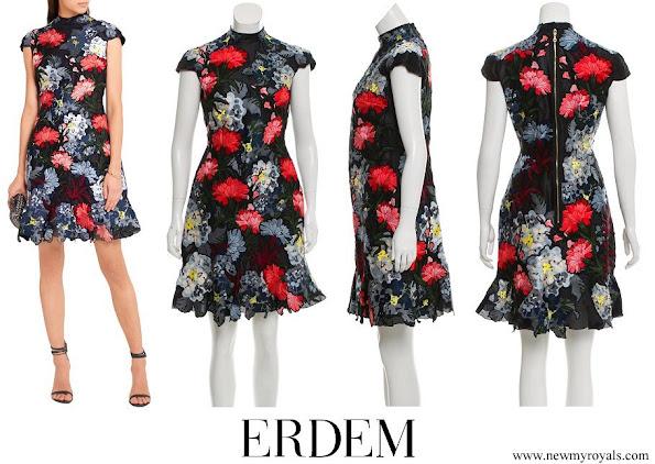 Princess Eugenie wore Erdem Hetty Embroidered Silk-organza Mini Dress