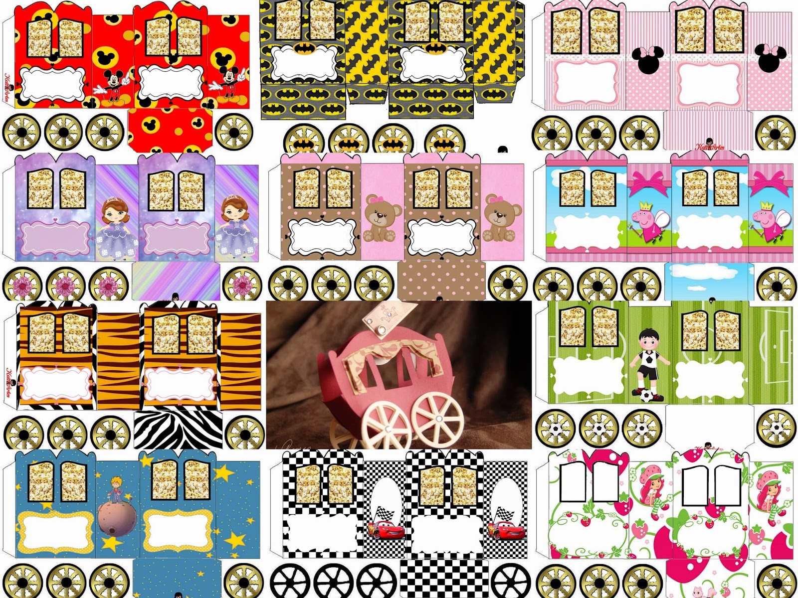 Princess Carriage Shaped Free Printable Boxes.