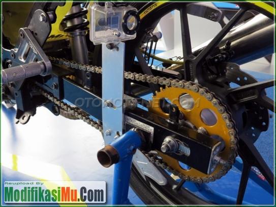 Gir Set SSS dan Dudukan Action Cam - Video Cara Modifikasi All New Suzuki Satria F150 FI Sporty Untuk Balapan Terbaru Sederhana Tapi Keren