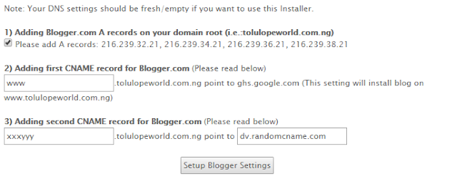 how to add my domainking domain to my blogger blog