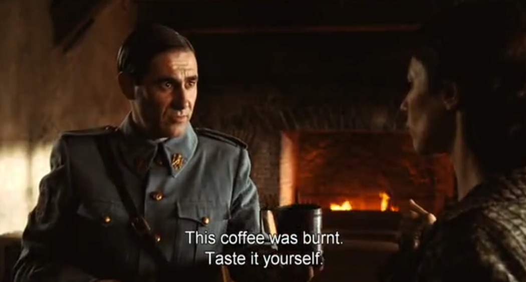 Burnt coffee scene from Pan's Labyrinth