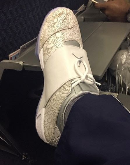 9c9973bc5b18 Here is a look at Dez Bryant Showing His Air Jordan 20  Laser  Retro  Sneakers which will most likely release sometime later this year.