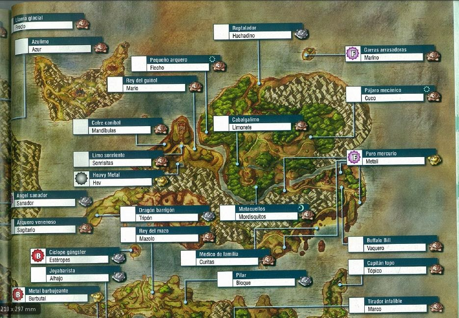 Mapa Dragon Quest 8.Guia De Dragon Quest Viii Mapas