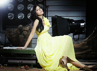 Amrita Rao in yellow gown