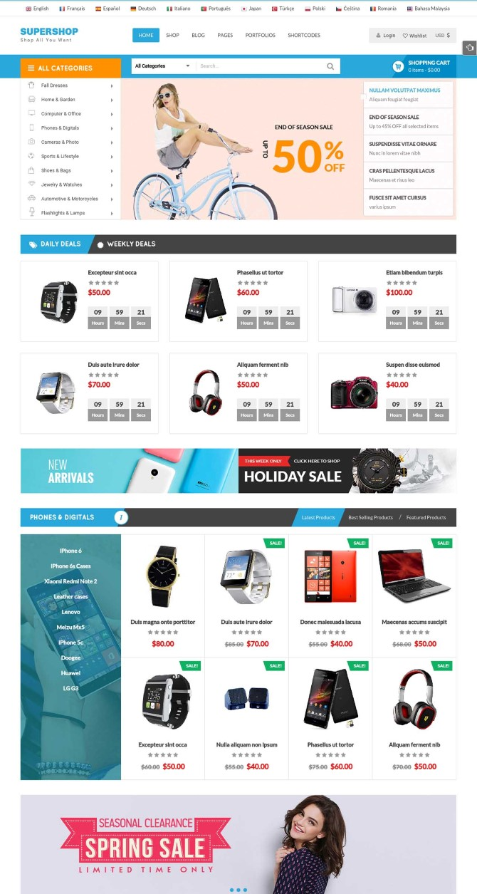 Supershop - Responsive WooCommerce Wordpress Theme