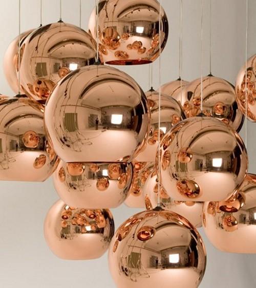 Objetos de cobre na decoração