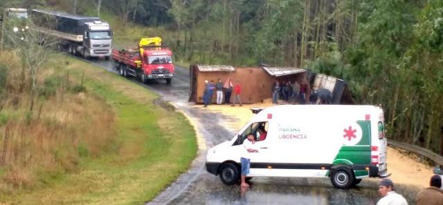 Caminhoneiro de Manoel Ribas perde a vida na PR-487, entre Cândido de Abreu e Reserva