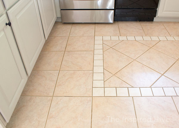 How We Disguised Our Ugly Tile Floors The Inspired Hive