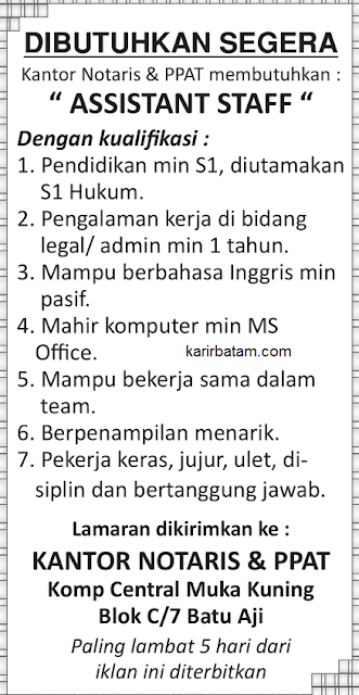 Lowongan Kerja Kantor Notaris & PPAT