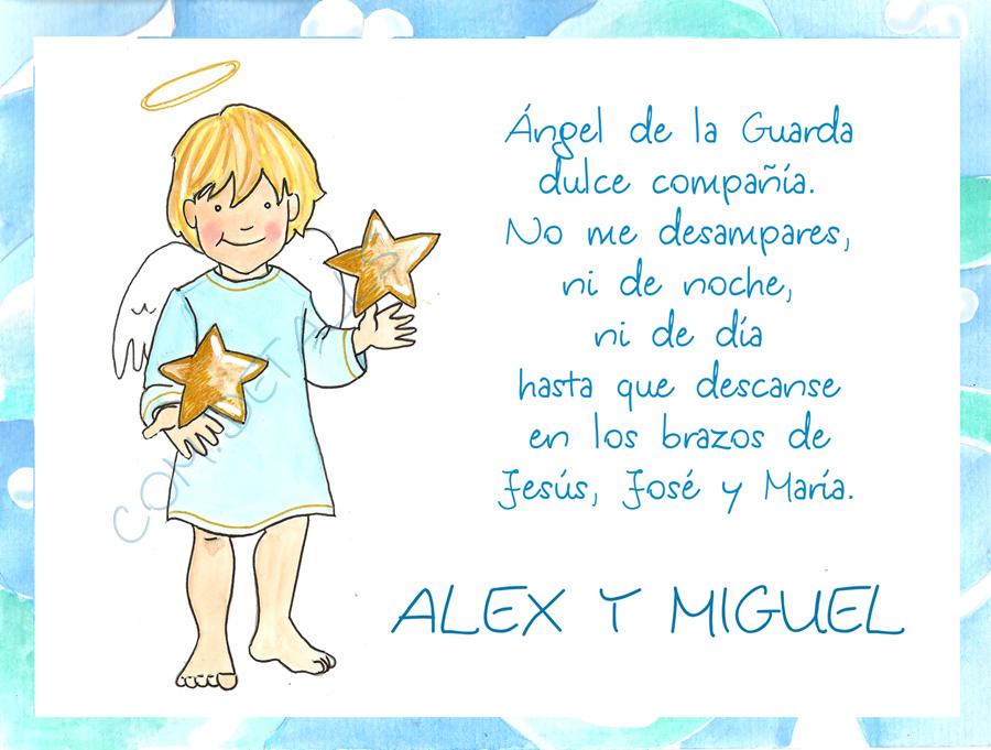 Eva Torguet Comdetalls Cuadros Infantiles Del ángel De La Guarda