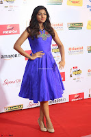 Eesha in Cute Blue Sleevelss Short Frock at Mirchi Music Awards South 2017 ~  Exclusive Celebrities Galleries 060.JPG