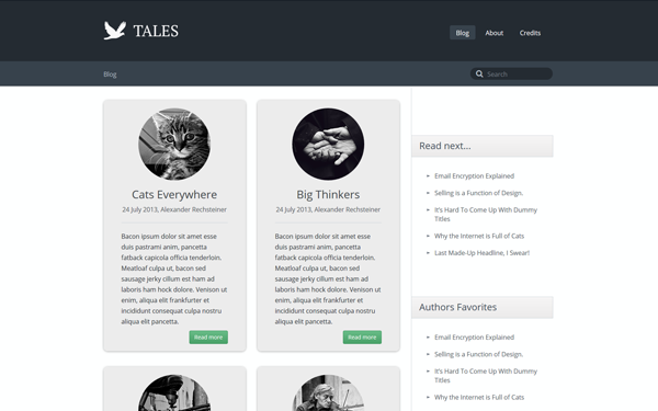 Tales - Responsive Blog Theme