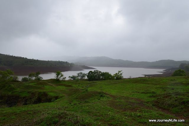Monsoon bike ride Panshet Dam Backwaters