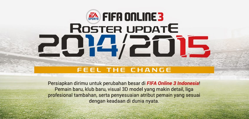 Roster Update Fifa Online 3 Indonesia 2014/2015