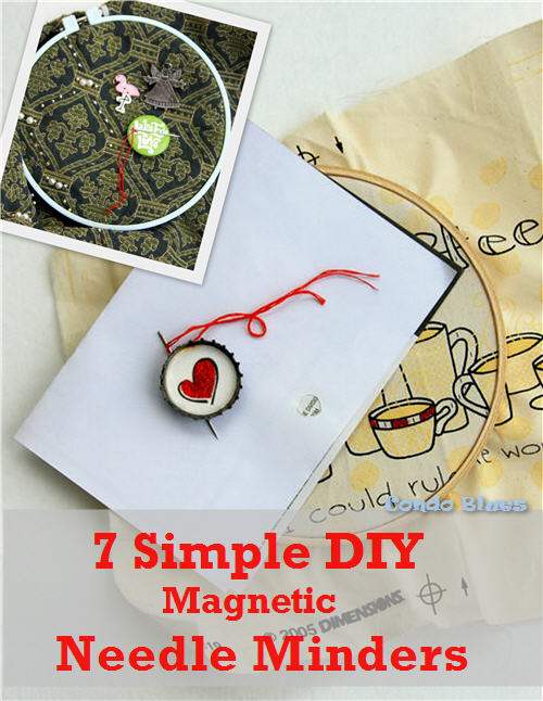 Needle Minder Diy : needle, minder, Condo, Blues:, Magnetic, Embroidery, Needle, Minders