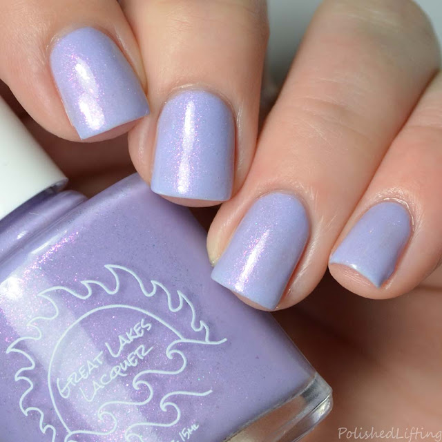 purple tri thermal nail polish