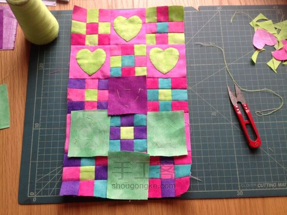 "Patchwork Bag ""Heart"". DIY tutorial.  Лоскутная сумка"