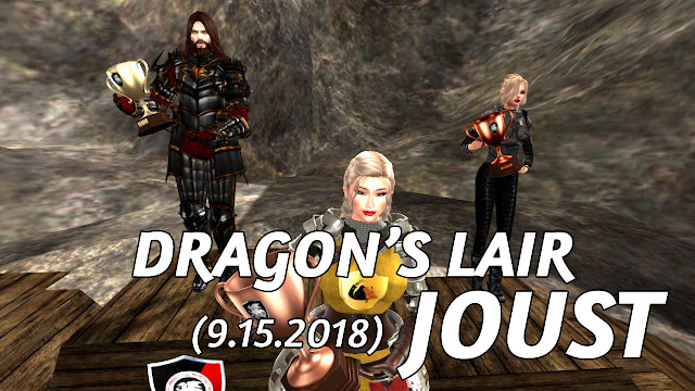 DRAGON'S LAIR JOUST In Second Life (9.15.2018) • Second Life Jousting