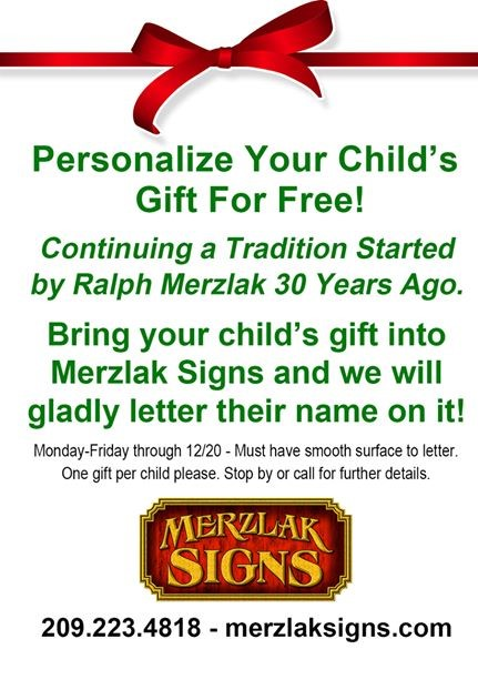 Merzlak Signs: Personalize Your Child's Gift for FREE!