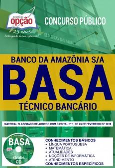 apostila da BASA 2018 Técnico Bancário