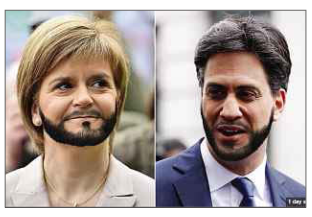 Edward Miliband Funny, trendy beard, funny extension