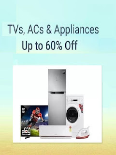 Flipkart Offer Get upto 60% off on Tvs and Appliances