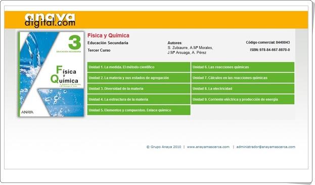"""Anaya Digital: """"Física y Química de 3º de Secundaria"""""""