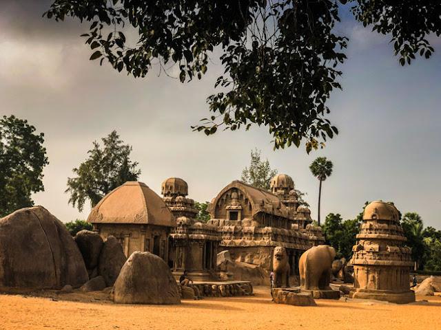 panch ratha five chariots mahabalipuram photo
