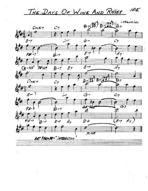Partitura Saxofón Mancini