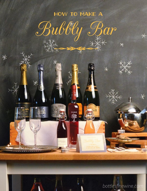 Holiday Party Idea Self Serve Bubbly Bar Free Printable