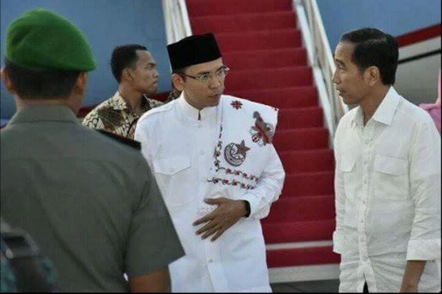 Gubernur NTB dan Jokowi
