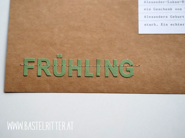 Frühling Layout Stampin' up!