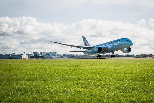 Air Canada Boeing 787-8 Dreamliner Inaugural At Vancouver Airport