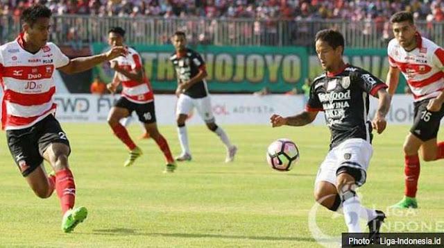 Madura United vs Bali United Imbang 2-2