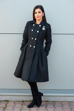 palton dama negru lung