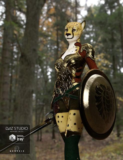 Cheetah Girl for Genesis 3 Female
