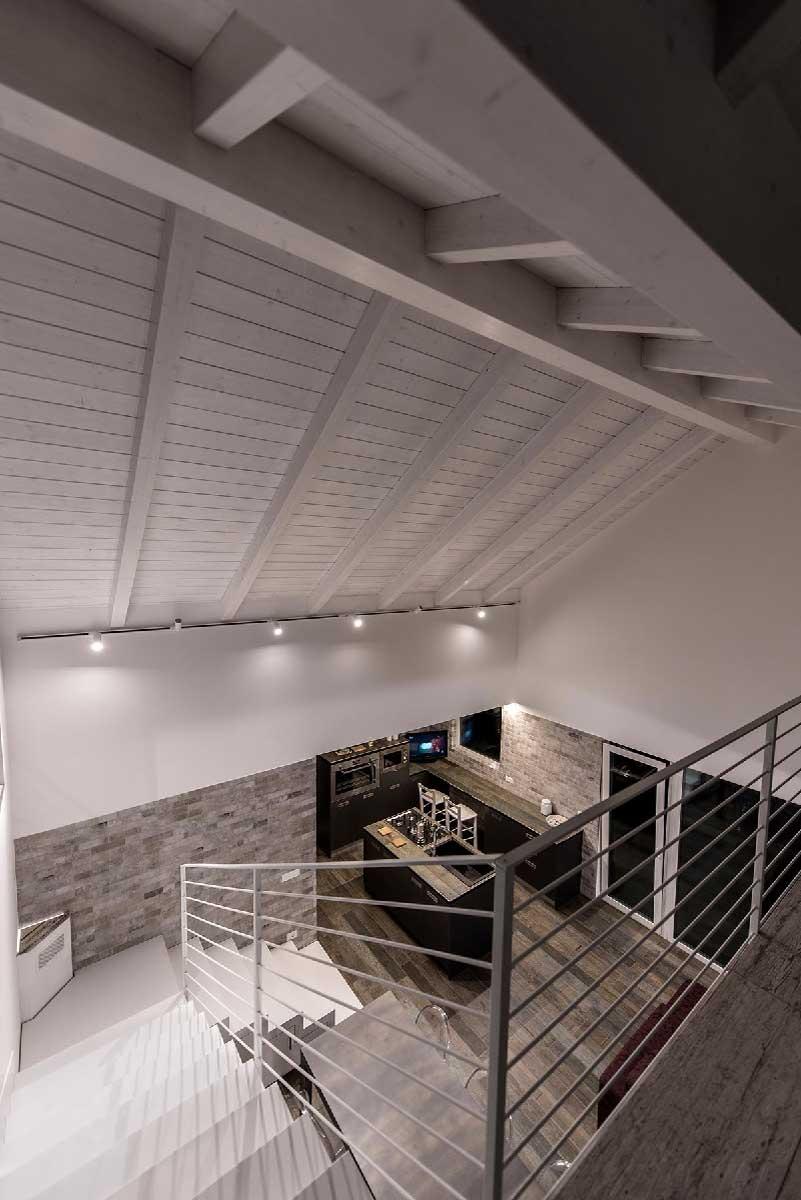 open space casa passiva in legno