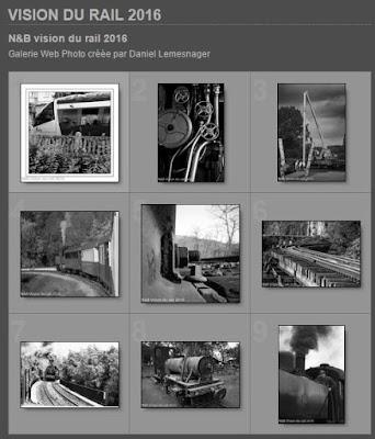 Diaporama N&B vision du rail 2016