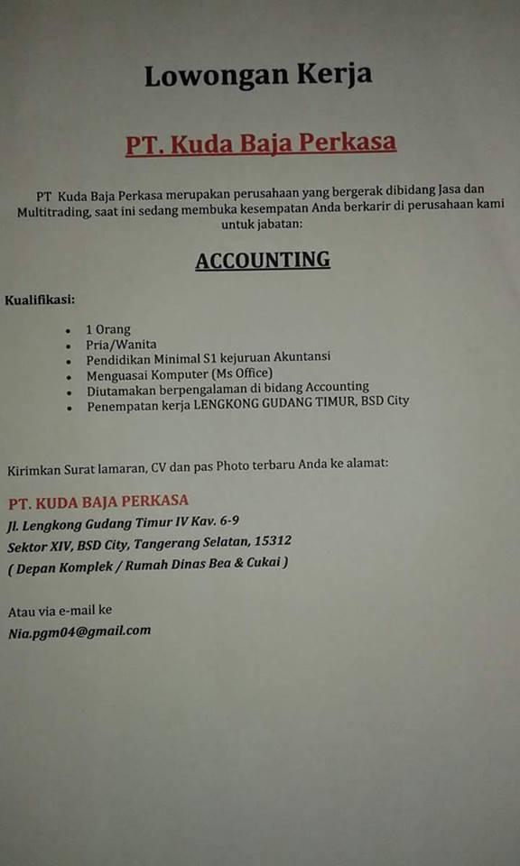 Lowongan Kerja Pt Kuda Baja Perkasa Lowongan Kerja Indonesia