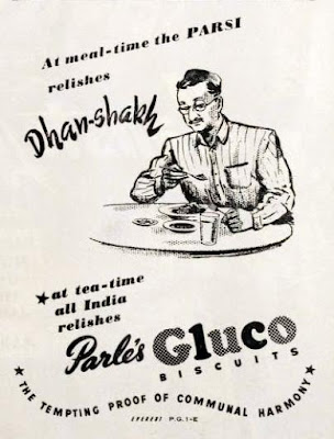 Parle's Gluco Biscuits Advertisement in 1949