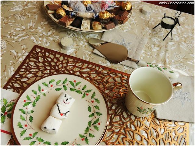 Desayuno de Navidad con Muñeco de Nieve de Marshmallows