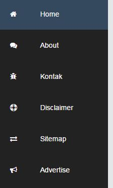 Menu Statis/Floating di Sidebar Kiri Blog