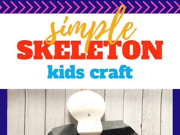 Easy Preschool Skeleton Craft