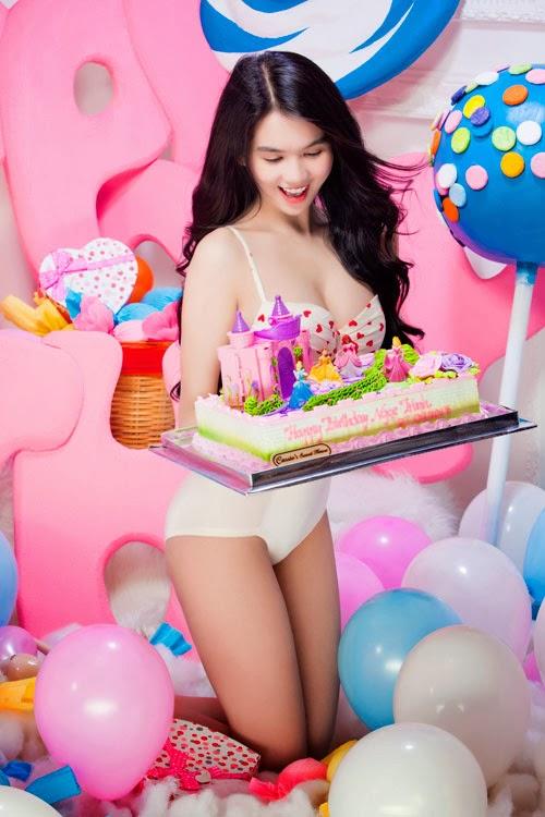 Ngoc Trinh in her sexy birthday
