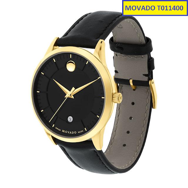 Đồng hồ dây da Movado T011400