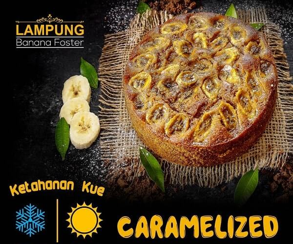 banana foster lampung caramelized